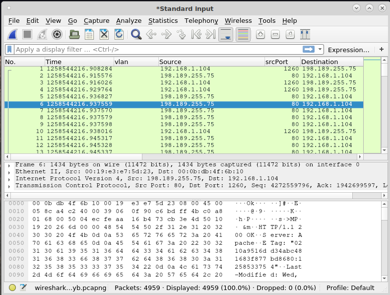 tawk pcap export to wireshark